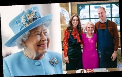 Kate Middleton borrowed Queen's earrings on Mary Berry cooking show