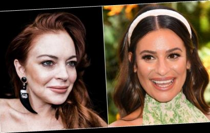 Lea Michele Says Being Shaded By Lindsay Lohan Was 'An Honor'