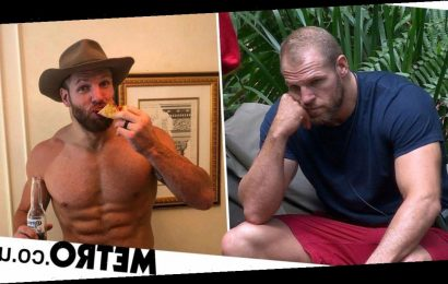 James Haskell tucks into pizza and beer after starving on I'm A Celebrity