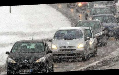 Ice and up to 6ins of snow threaten travel chaos for commuters