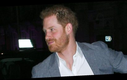 Prince Harry puts on brave face as he's spotted for first time since Megxit deal