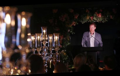 Sweet nod to Princess Diana on tables as Harry gave moving speech about future