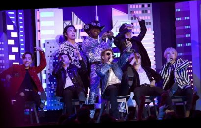 """Lil Nas X Brings Out Billy Ray Cyrus, BTS, and More For Epic """"Old Town Road"""" Performance"""