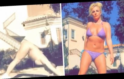Britney Spears Shows Off Bikini Body in Sultry Yoga Video