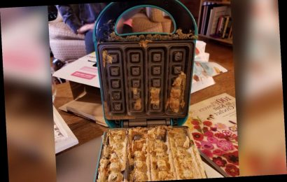 'New' waffle maker from Amazon delivered with old, crusty waffle inside