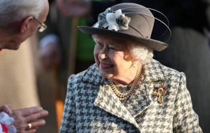 Queen makes her first appearance following Harry and Meghan announcement