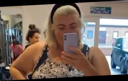 Gemma Collins continues to show off results of two stone weight loss as she shares video from gym