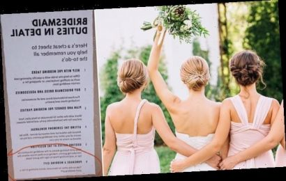 Bride-to-be's list of duties asks bridesmaid to buy her a wedding gift