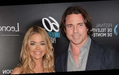 Denise Richards, 48, Cozies Up To Hubby Aaron Phypers In Sultry Black Dress After Divorce Rumors