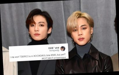The Tweets About Jungkook & Jimin's Corsets In BTS' Concept Photos Are Wild