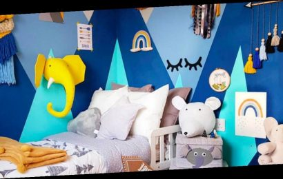 DIY mum turns son's room into mountain paradise using cheap paint and tape