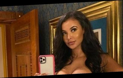 Maya Jama sets pulses racing in skintight minidress with sultry hotel selfie