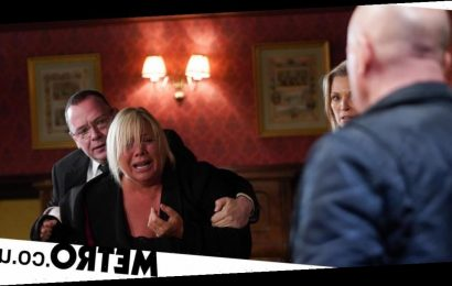 Phil stabbed as Sharon attacks with a knife in EastEnders?