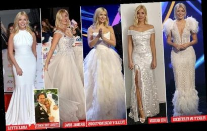 It's Holly I Will-oughby! Almost every gown she wears is wedding dress