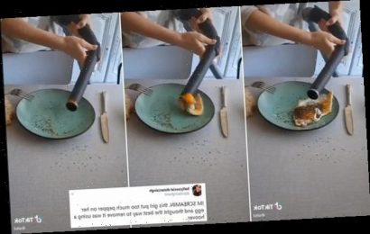 Girl goes viral after attempting to hoover pepper off her egg