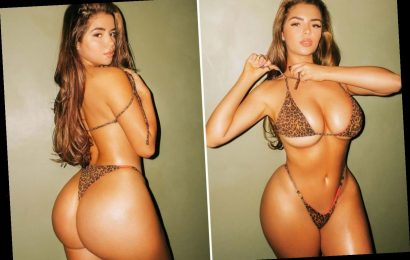 Demi Rose displays her jaw-dropping curves in VERY skimpy leopard print bikini as she celebrates her 25th birthday – The Sun