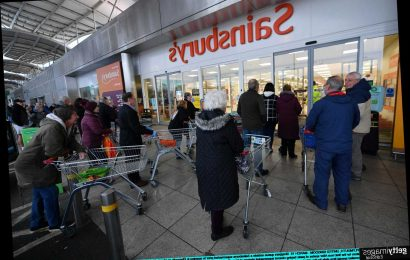 Sainsbury's boss warns customers to stand one metre from staff while shopping to halt the spread of coronavirus