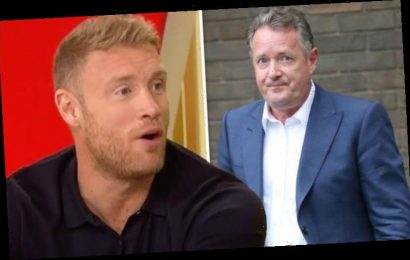 Piers Morgan: Freddie Flintoff in jibe at GMB presenter 'Lips should be nowhere near that'
