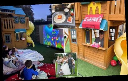 Mother transforms her family garden for her daughter's birthday