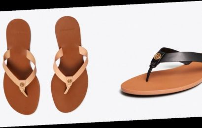 Upgrade Your Rubber Flip Flops With These 44%-Off Tory Burch Sandals