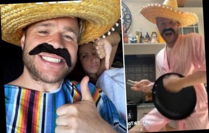 Olly Murs accidentally flashes his package after dressing as a Mexican singer to prank girlfriend Amelia – The Sun