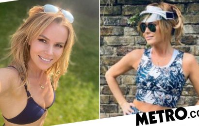 Amanda Holden strips down to her bikini for cheeky garden selfie in lockdown