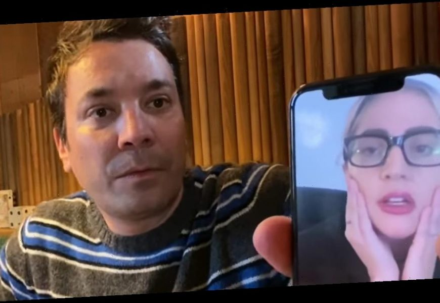 Watch Lady Gaga's Awkward FaceTime With Jimmy Fallon About COVID-19: 'Am I On TV?'