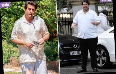 James Argent shows off his incredible five stone weight loss as he puffs on a cigar – The Sun
