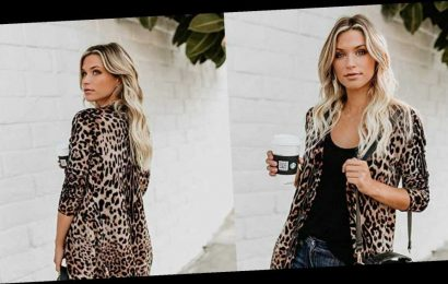 Amazon Reviewers Say This Leopard Print Sweater Is the 'Best Cardi Yet'