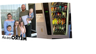Mum buys vending machine and gets kids to pay for their snacks with pocket money