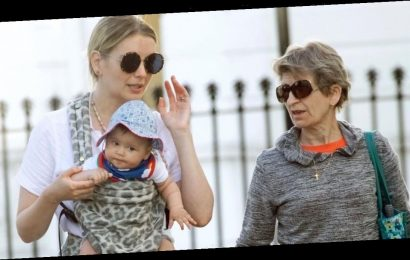 Rachel Riley takes adorable daughter Maven for a walk with Pasha Kovalev's mum Galina