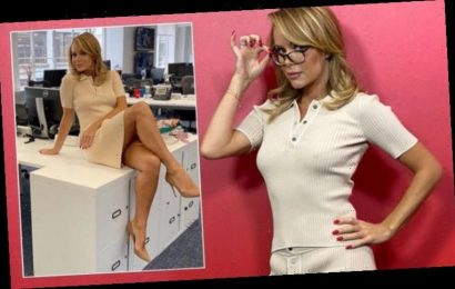 Amanda Holden leaves little to imagination as she sparks frenzy in 'sexy secretary' outfit