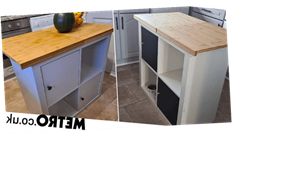 Mum creates amazing kitchen island for just £36 and saves £163