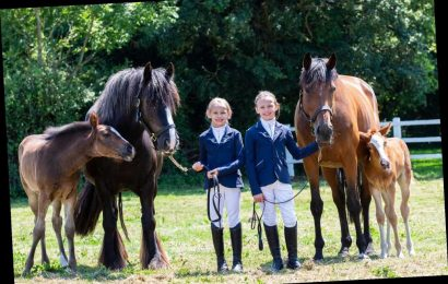 Mom of twin IVF daughters gives them twin IVF horses