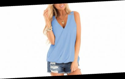 Show Just the Right Amount of Skin in This Flattering Wrap Tank Top