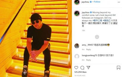 Jay Chou is the most-followed Taiwanese artist on Instagram with more than 6m followers