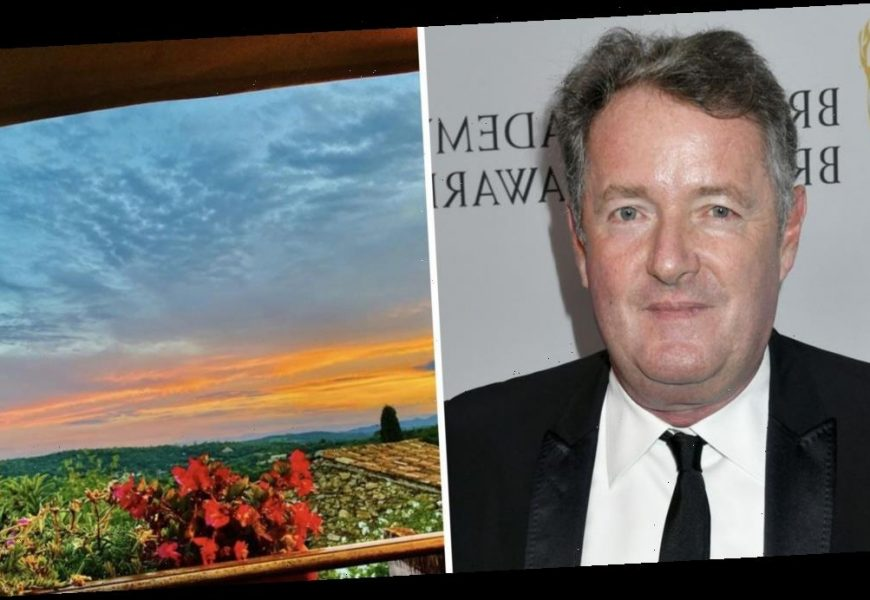 Piers Morgan is labelled a 'hypocrite' as he shares stunning view from French getaway after jetting off