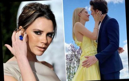 Brooklyn Beckham's fiancee Nicola Peltz delighted Victoria by wearing her £1,450 dress for engagement photos