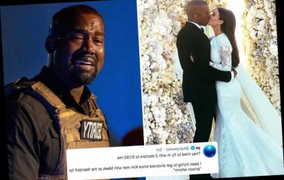 Kanye West claims he's been 'trying to divorce Kim Kardashian for TWO years'