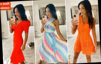 Michelle Keegan looks sensational as she models sexy summer dresses in her bedroom