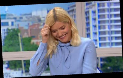 Holly Willoughby left red-face after Phillip Schofield makes joke about restraining during interview with actor Rupert Penry-Jones