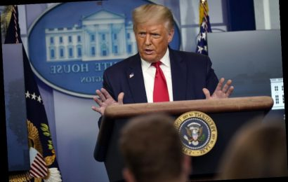 President Donald Trump Cuts Off Press Conference After CBS News Reporter's Challenge On Veterans Bill