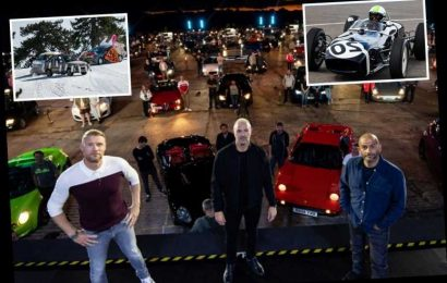 Top Gear's on BBC1 now so less swearing…but we get to crash better cars