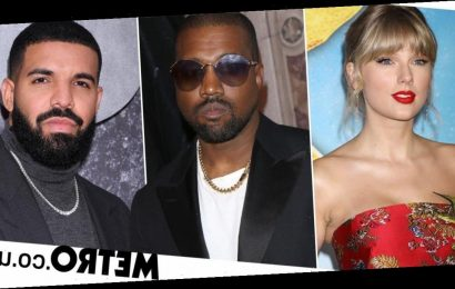 Kanye West asks rivals Drake and Taylor Swift to help change music contracts