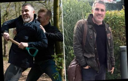 Coronation Street's Rick Neelan could return from the dead a year after murder as actor Greg Wood is spotted at set