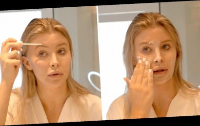 Sophia Hutchins shows us her skincare routine