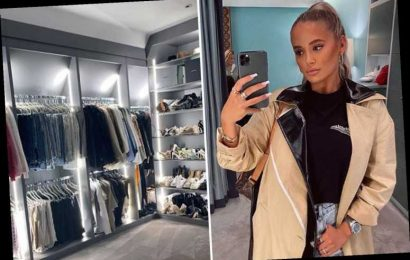 Molly-Mae Hague shows off 'dream' walk-in wardrobe with backlights and walls of shoes