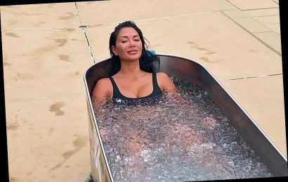 Nicole Scherzinger strips off for freezing ice bath after gruelling workout