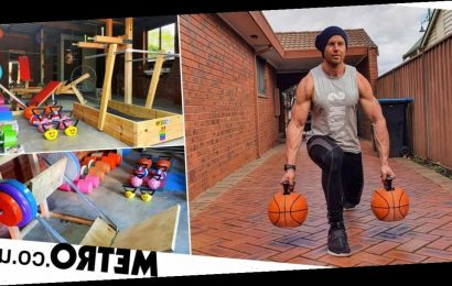 Man builds incredible gym at home using scrap material and saves £7,000