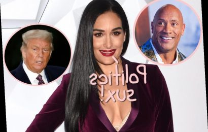Nikki Bella Responds To Political Backlash From Promoting The Rock's New Book By… Not Taking A Stand!